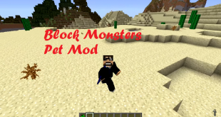 download block monsters pet mod for minecraft blockmonsterspetmod Download Block Monsters Pet Mod for Minecraft