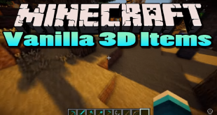 download vanilla 3d items mod for minecraft vanilla3ditemsmod Download Vanilla 3D Items Mod for Minecraft